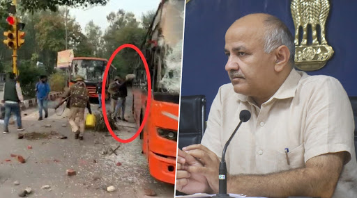 Delhi Deputy CM Manish Sisodia Questions Delhi Police's Role in 'Setting DTC Bus on Fire' During Jamia Protests Against CAA, Demands Probe