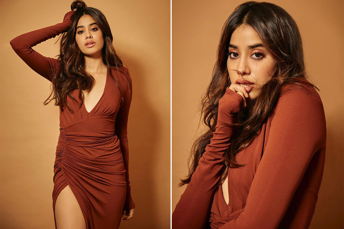 Janhvi Kapoor Dials Up the Drama With an Alexandre Vauthier Brown Wrap Dress!