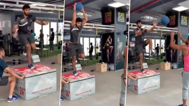 Jasprit Bumrah Hits the Gym As He Returns From Injury, Watch Video of Indian Pacer's Intense Workout