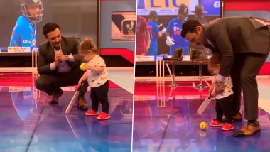 Jatin Sapru's Daughter Plays Cricket in Studio, Video Proves She Is the Cutest Kid Around (See Instagram Post)