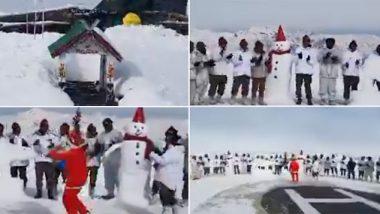 Christmas 2019: Jawans Spread Christmas Joy by Singing Jingle Bells on LOC in Kashmir, Watch Video