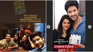 Jennifer Winget Celebrates 'Pre-Christmas' With Beyhadh 2 Co-stars Shivin Narang, Rajat Verma and Director Prateek Shah (View Pics)
