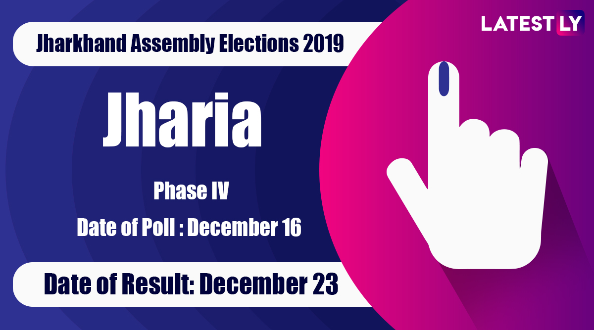 Jharia Vidhan Sabha Constituency Result in Jharkhand Assembly Elections 2019: Purnima Niraj Singh ofCongress Wins MLA Seat