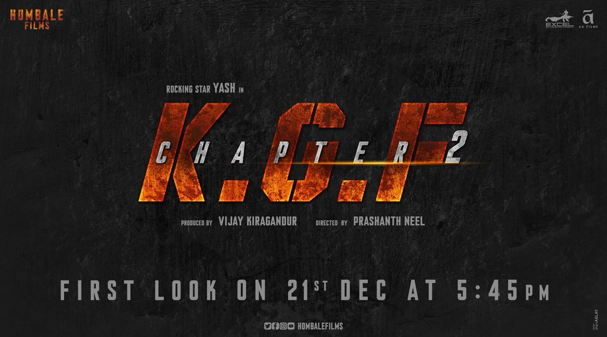 Yash-Sanjay Dutt Starrer KGF Chapter 2 First Look to Release on 21 December, Fans Go Crazy With Excitement!