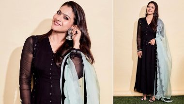 Yo or Hell No? Kajol Kickstarts Tanhaji Promotions in a Rs 29,950 Anarkali by Ankur and Priyanka Modi (View Pics)