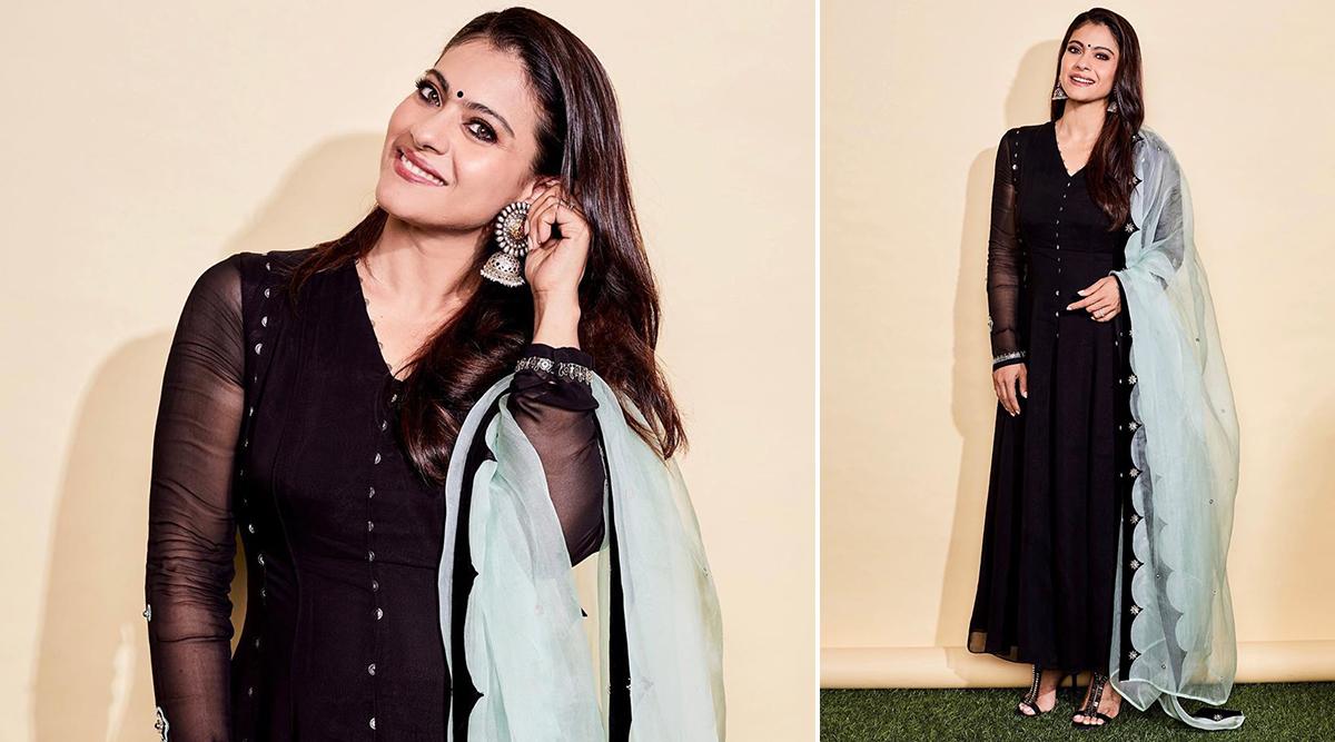 Yo or Hell No? Kajol Kickstarts Tanhaji Promotions in a Rs 29,950 Anarkali by Ankur and Priyanka Modi (View Pics)