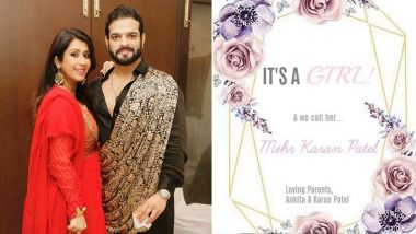 It's Baby Girl Mehr For Karan Patel and Ankita Bhargava, Couple Announces Good News In The Most Adorable Way (View Post)