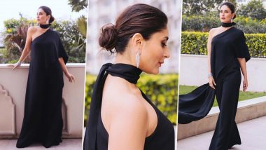Kareena Kapoor Khan Sets the Fashion Ball Rolling with her Black Elie Saab Outfit at Hindustan Times Leadership Summit 2019 (View Pics)