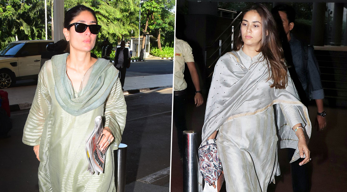 Fashion Faceoff! Kareena Kapoor Khan Vs Mira Rajput, Who Pulled Off the Classy Ethnic Airport Look Better?