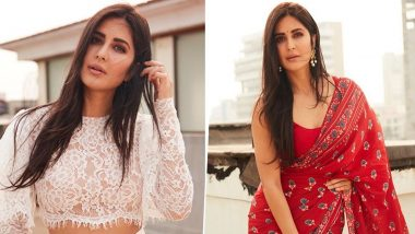 Katrina Kaif Goes From Being a Glam Girl to Perfect Desi Beauty In Less Than Twenty Four Hours and All We Can Say is WOW! (View Pics)
