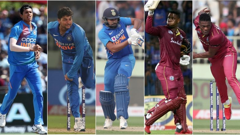 India vs West Indies, 3rd ODI 2019, Key Players: Kuldeep Yadav, Navdeep Saini, Sheldon Cottrell and Other Cricketers to Watch Out for in Cuttack