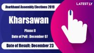 Kharsawan (ST) Vidhan Sabha Constituency in Jharkhand: Sitting MLA, Candidates For Assembly Elections 2019, Results And Winners