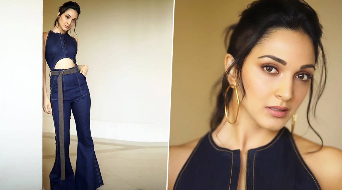 Hot Damn, Kiara Advani! You Have Us Hooked to Your Flared Denim Jumpsuit, Hoops and a High Ponytail!