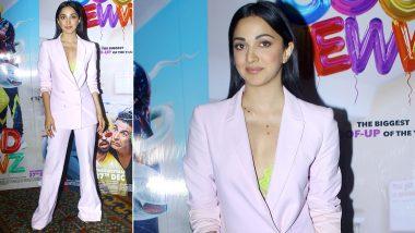 Kiara Advani Astounds With a Pastel Pantsuit, a Neon Yellow Bralette and Sleek Hair!
