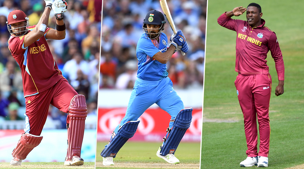 India vs West Indies, 3rd T20I 2019, Key Players: Kieron Pollard, KL Rahul, Sheldon Cottrell and Other Cricketers to Watch Out for in Mumbai