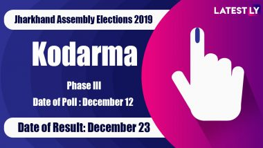 Kodarma Vidhan Sabha Constituency in Jharkhand: Sitting MLA, Candidates For Assembly Elections 2019, Results And Winners