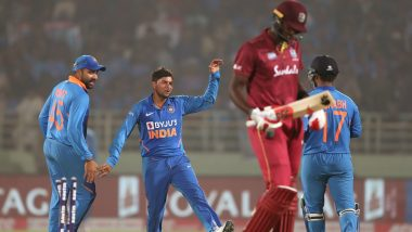 IND vs WI 2nd ODI 2019 Stat Highlights: Records Galore As Kuldeep Yadav Hat-Trick Helps India Beat West Indies by 107 Runs