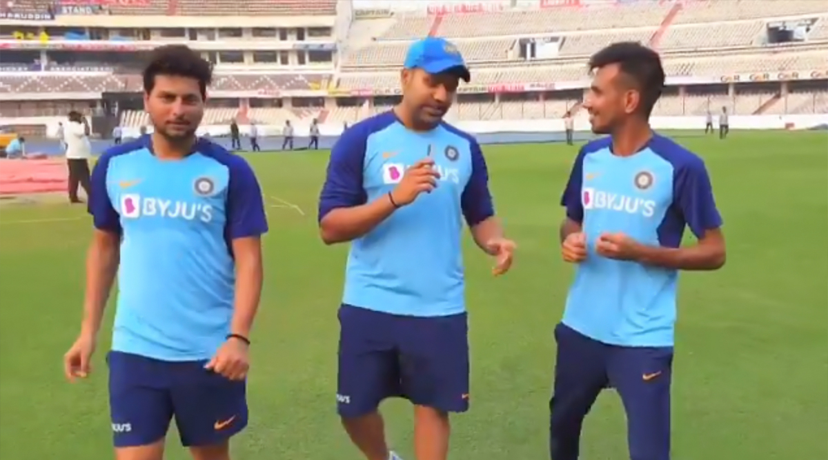 Rohit Sharma Plays Rapid-Fire With Yuzvendra Chahal and Kuldeep Yadav, Indian Spin-Twins Name Team's Worst Dancer And Make Interesting Revelations (Watch Video)