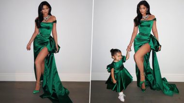 Kylie Jenner and Daughter Stormi are Exuding all the Christmas Vibes in their Custom Ralph & Russo Outfits (View Pics)
