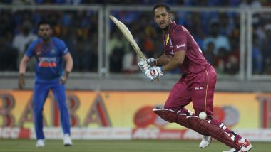India vs West Indies 2nd T20I 2019 Stat Highlights: Lendl Simmons Powers Windies to Impressive Win, Series Nicely Poised at 1-1