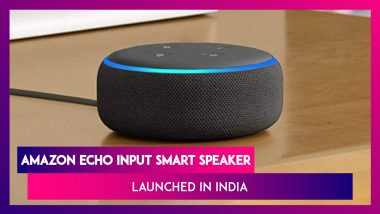 Amazon Launches Echo Input Smart Speaker With 4,800mAh Battery At Rs 4,999; Price, Features & Specifications