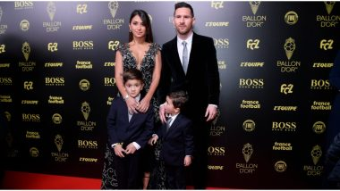 Lionel Messi and Wife Antonella Roccuzzo Arrive in Paris for Ballon d'Or 2019 Awards Ceremony (See Pic)