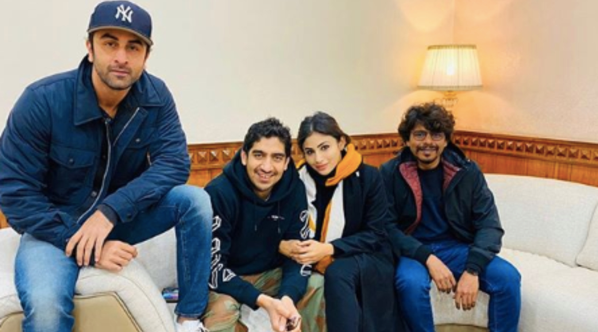 Mouni Roy is All Smiles in This 'Warm' Picture With Brahmastra Co-Star Ranbir Kapoor and Director Ayan Mukerji
