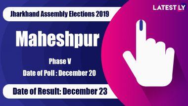Maheshpur Vidhan Sabha Constituency Result in Jharkhand Assembly Elections 2019: Stephen Marandi of JMM Wins MLA Seat
