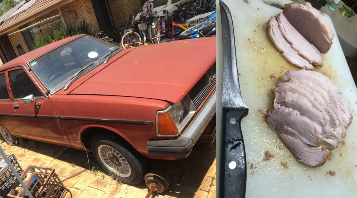 Australian Man Roasts Pork Joint in His Car As Temperatures Set Soaring (See Pictures)