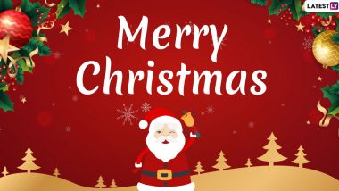 Merry Christmas 2019 Greetings: WhatsApp Stickers, Happy Holidays Wishes, GIF Images, SMS, Facebook Messages and Quotes to Share With Family & Friends