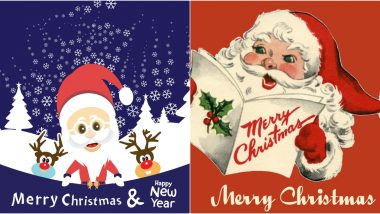 Merry Christmas 2019 HD Images With Santa Claus for Free Download Online: Wish Everyone Happy Christmas With WhatsApp Stickers, Wallpapers and GIF Greetings Messages