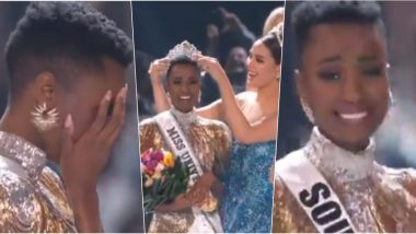 Miss Universe 2019 Winner Zozibini Tunzi's Crowning Moment Video: Watch Catriona Gray Place 5 Million Dollars New Crown on Miss South Africa's Head at 68th Edition's Beauty Pageant!