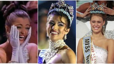 Miss World 2019: Ahead of the 69th Edition of the Beauty Pageant, Here's Looking at the Best Crowning Moments Over the Years (Watch Video)