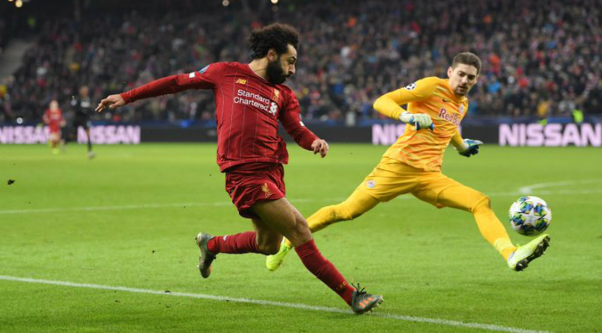 Mohamed Salah Scores From Tight Angle Against RB Salzburg in UEFA Champions League 2019–20, Twitterati Hail Egyptians Strike (Watch Video)