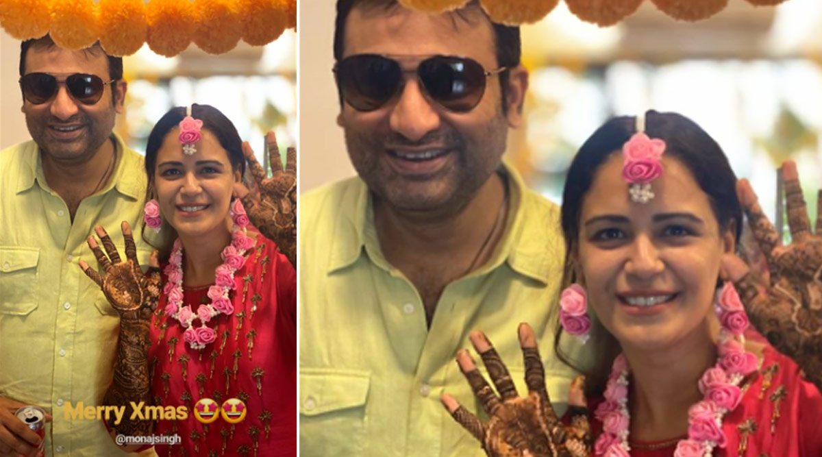 Mona Singh Looks Like The Perfect Radiant Bride At Her Mehendi Ceremony (View Pics)