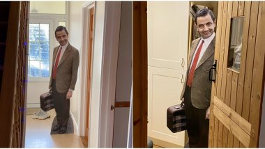 Son Gives Mr Bean Cut-Out To Father as Christmas Gift, He Now Scares His Wife With It (View Funny Pics)