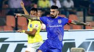 ISL 2019–20 MCFC 1–1 KBFC Result: Mumbai City FC vs Kerala Blasters Match Ends in 1–1 Tie After a Nail-Biting Encounter