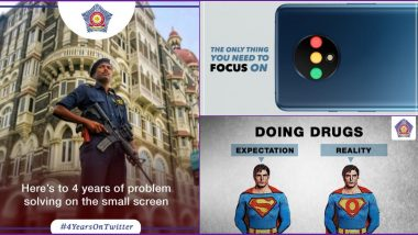 Mumbai Police Completes 4 Years on Twitter: 10 Times The Social Media Account Spread Awareness In Coolest Way Possible Using Funny Memes and Witty Tweets