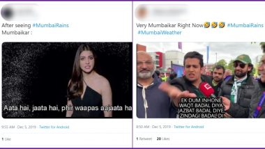 Mumbai Rains Funny Memes Trend Online as Parts of The City Experiences Showers in December