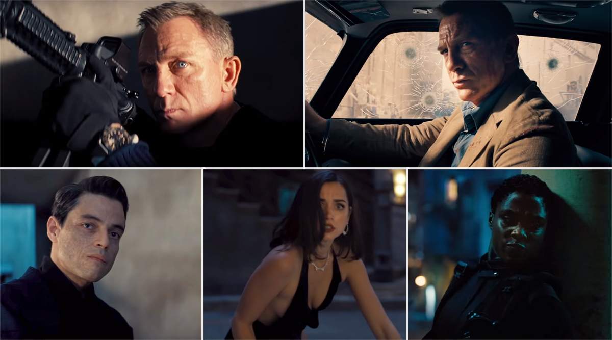 No Time To Die Trailer: Daniel Craig's Last Outing as James Bond Looks Grand, Rami Malek's Mysterious Villain Heightens Intrigue (Watch Video)