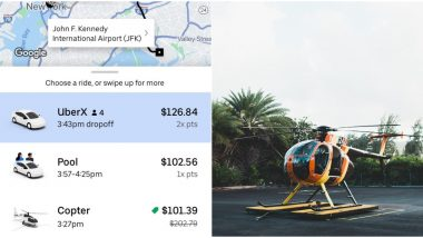 New York Woman's Uber Shows Helicopter as The Cheapest Option to Reach JFK Airport and Netizens Want Her to Take The Ride!