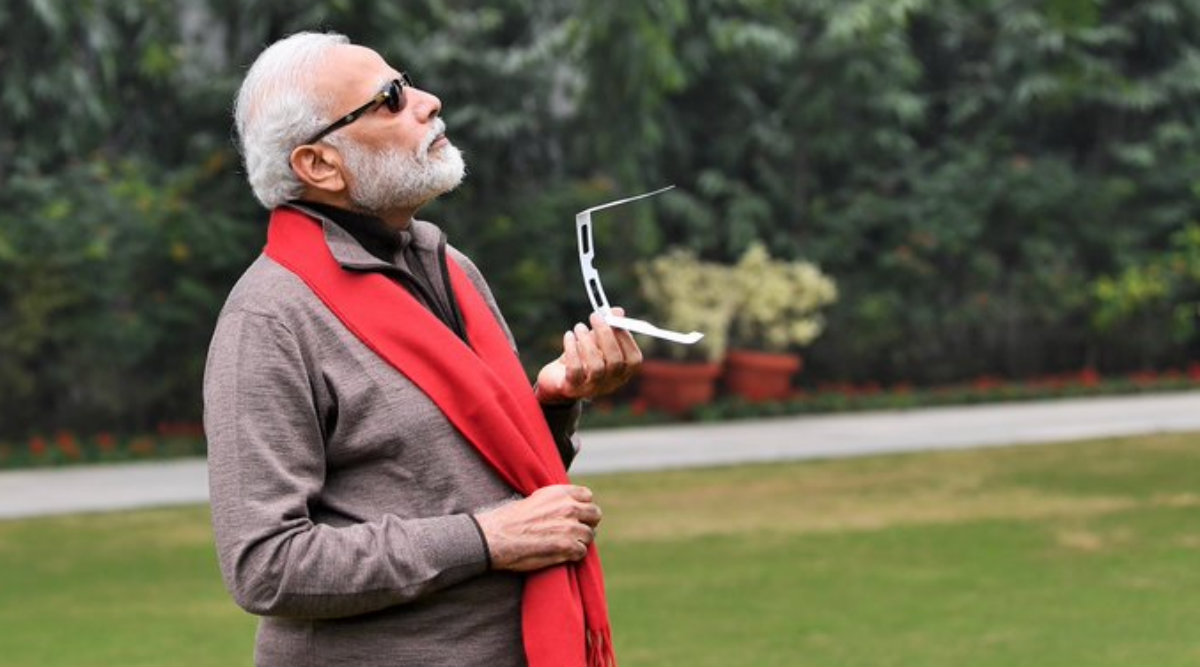 PM Modi Welcomes Funny Memes on His Photos Watching Solar Eclipse 2019