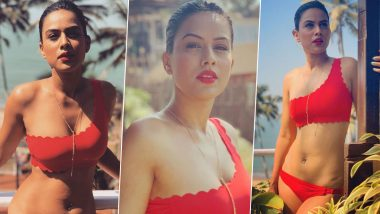 Naagin 4 Babe Nia Sharma Flaunts Her Sexy Body in a Red Bikini and We Are Gasping for Breath (View Pics)