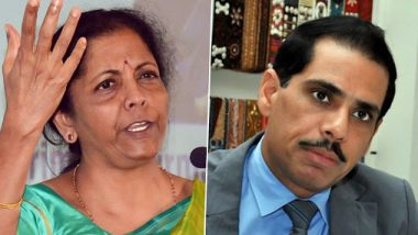 Nirmala Sitharaman Refers to Robert Vadra in Retort to Congress Over Economic Slowdown, Says 'For Us No Jijas Only Karyakartas'