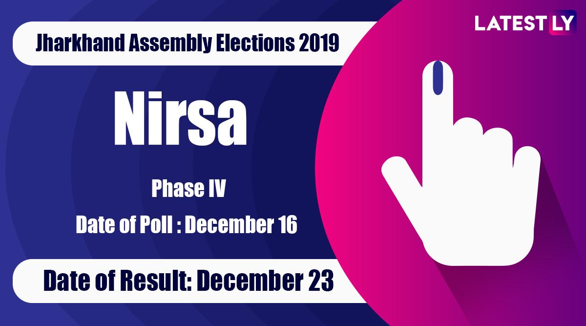 Nirsa Vidhan Sabha Constituency Result in Jharkhand Assembly Elections 2019: Aparna Sengupta of BJPWins MLA Seat