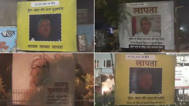 'Nitish Kumar Missing' Posters Emerge in Patna Amid Bihar Chief Minister's Silence on Citizenship Amendment Act