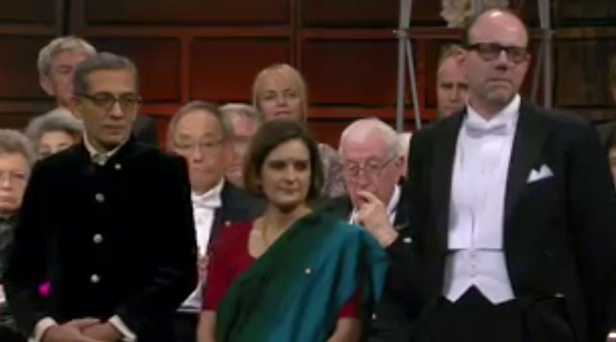 Abhijit Banerjee and Esther Duflo Dress in Indian Attires to Receive Their Economics Nobel Prize (Watch Video)