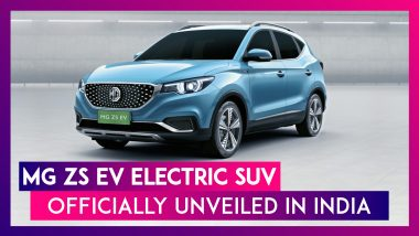 MG ZS EV Electric SUV Officially Unveiled; To Be Launched in India By Early Next Year