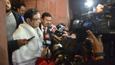 New Year 2020 Wishes by P Chidambaram: Congress Leader Says 'First Greetings Must Go to Detained Farooq Abdullah, Omar Abdullah And Mehbooba Mufti'