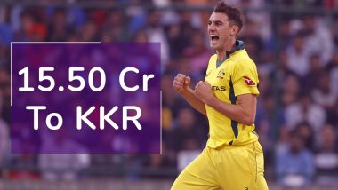 Pat Cummins Most Expensive Buy in IPL 2020 Player Auction: Watch How KKR Snatch Him From Delhi Capitals and Kings XI Punjab